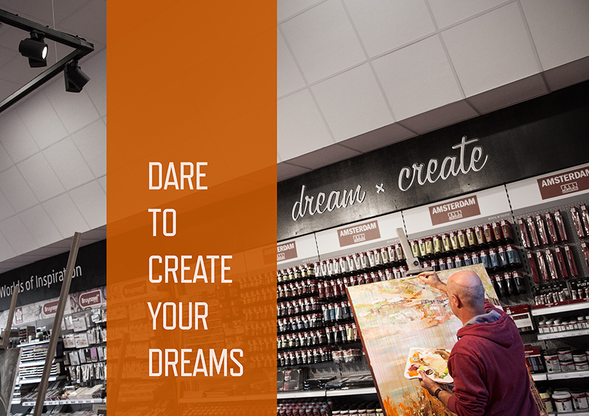 Inspiratie: schilder - dare to create dreams