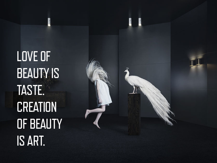 Modular: love of beauty is taste. Creation of beauty is art.